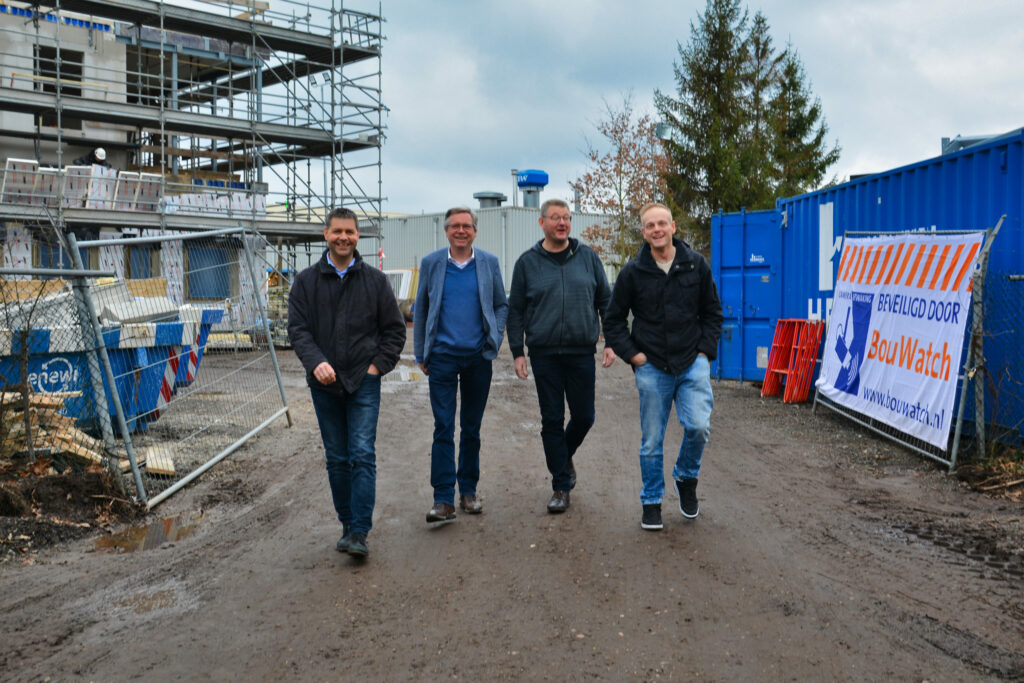 Ep Oosting on buildingsite Assen